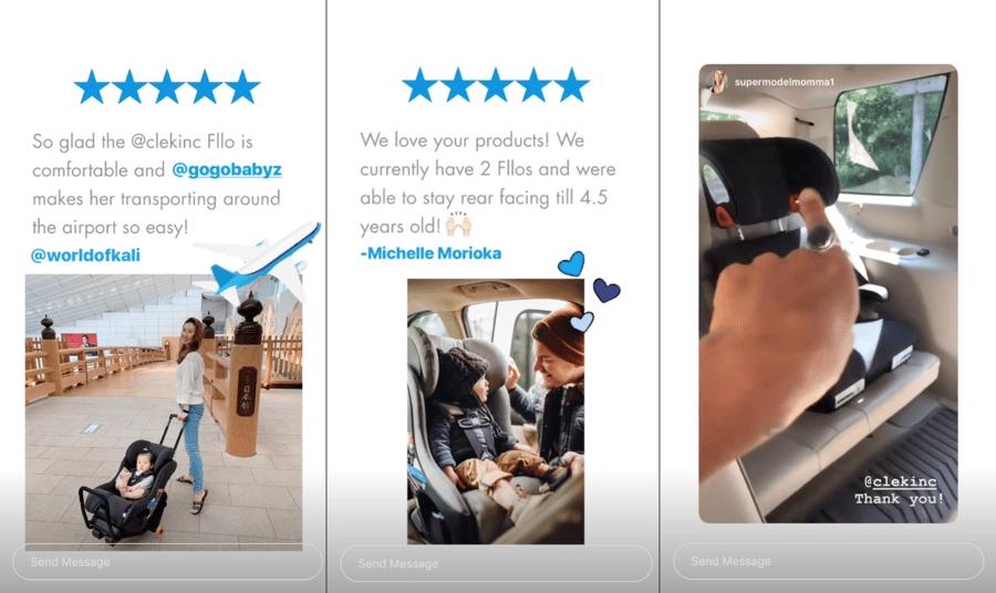 Using Customer Reviews in Instagram Stories