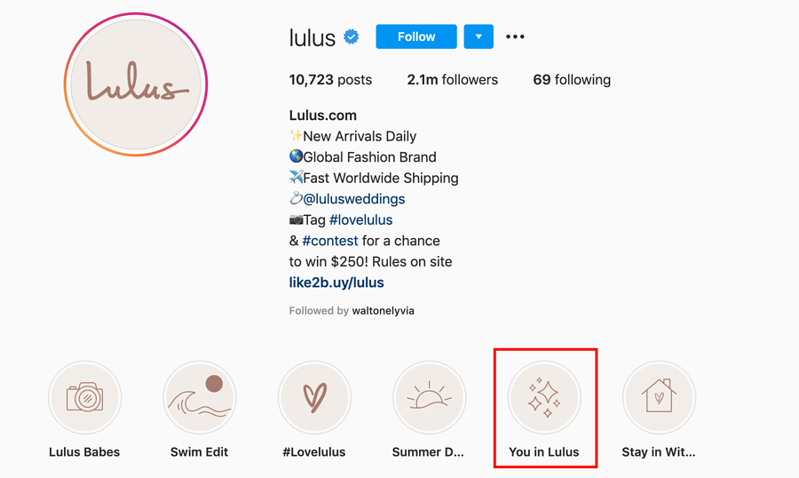 Lulus encourages User Generated Content