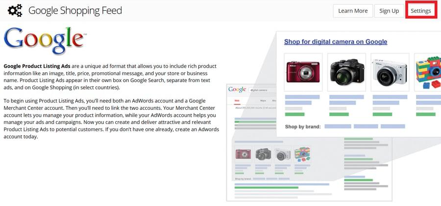3dcart Google Shopping setup step 2