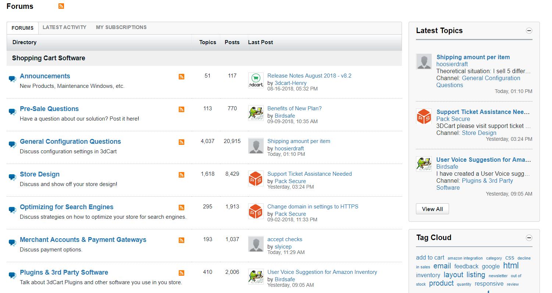 3dcart-forum-community