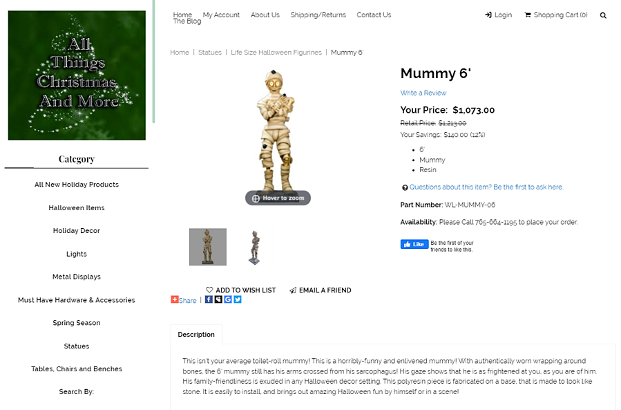 All Things Christmas and More Mummy 6 Product Description