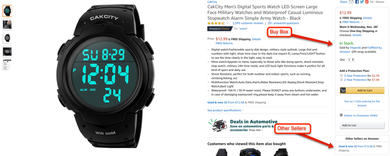 Amazon Listing with Buy Box
