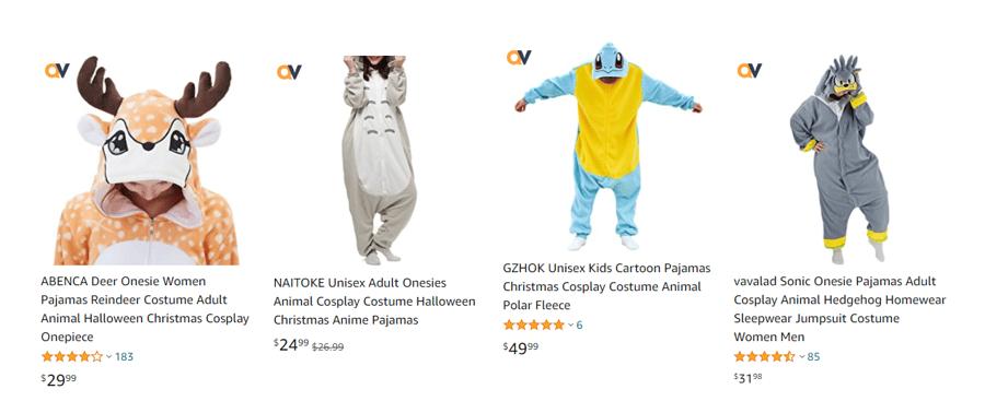 Amazon cosplay pajamas