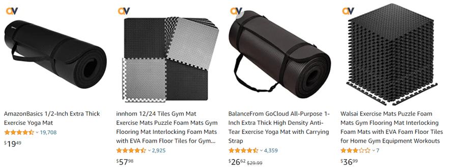 Amazon exercise mats