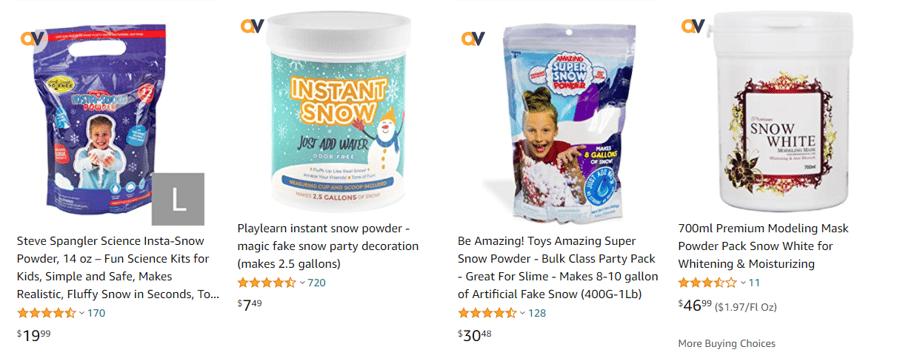 Amazon snow powder