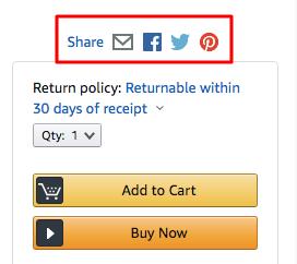 Amazon social buttons
