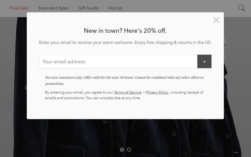 Bonobos Email Incentive