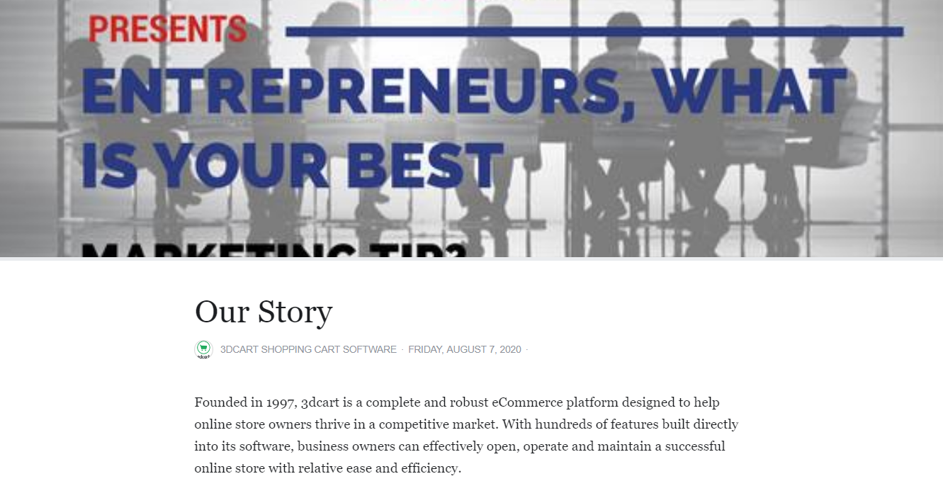 Facebook Business Page Our Story
