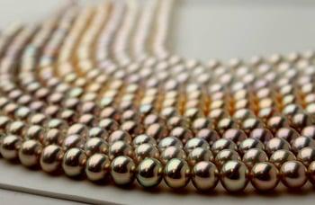 Fancy Color metallic pearls from Pearls of Joy