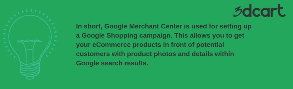 Google Merchant Center Summary