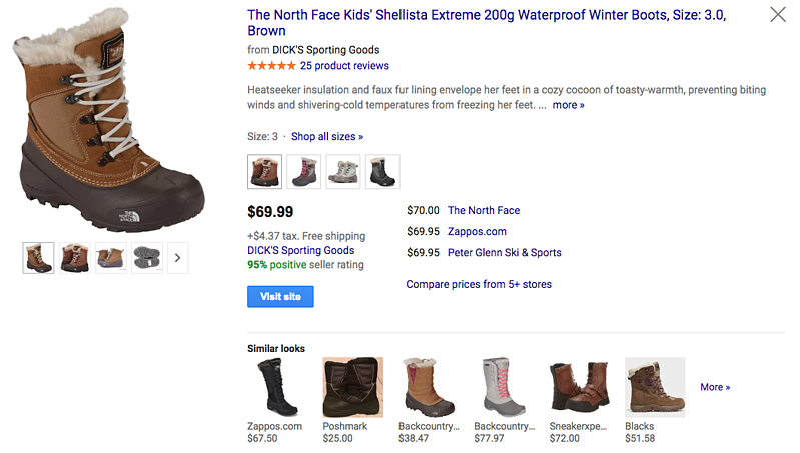 Google Product Listing Ad