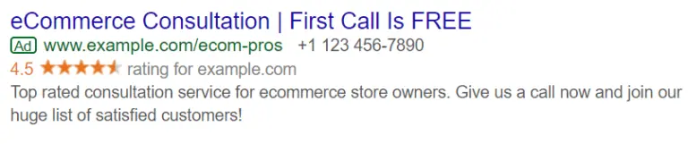 Google Shopping Ad Extension