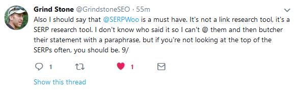 Grindstone Serpwoo Tweet