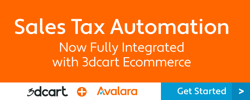 Avalara Sales Tax Automation with 3dcart