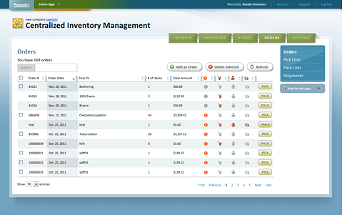 Bizelo eCommerce inventory management