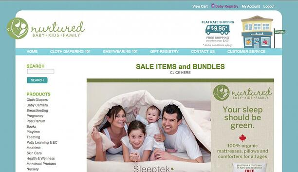 Nutured.ca 3dcart eCommerce store