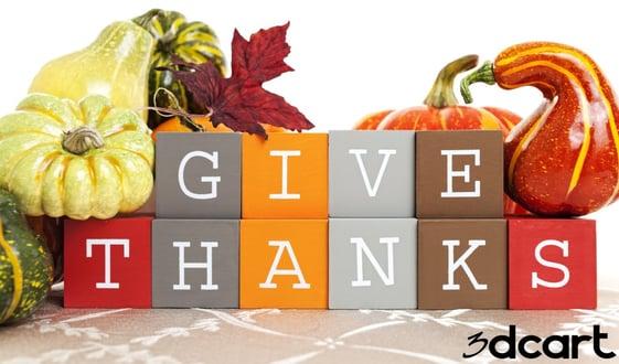 3dcart Thanksgiving