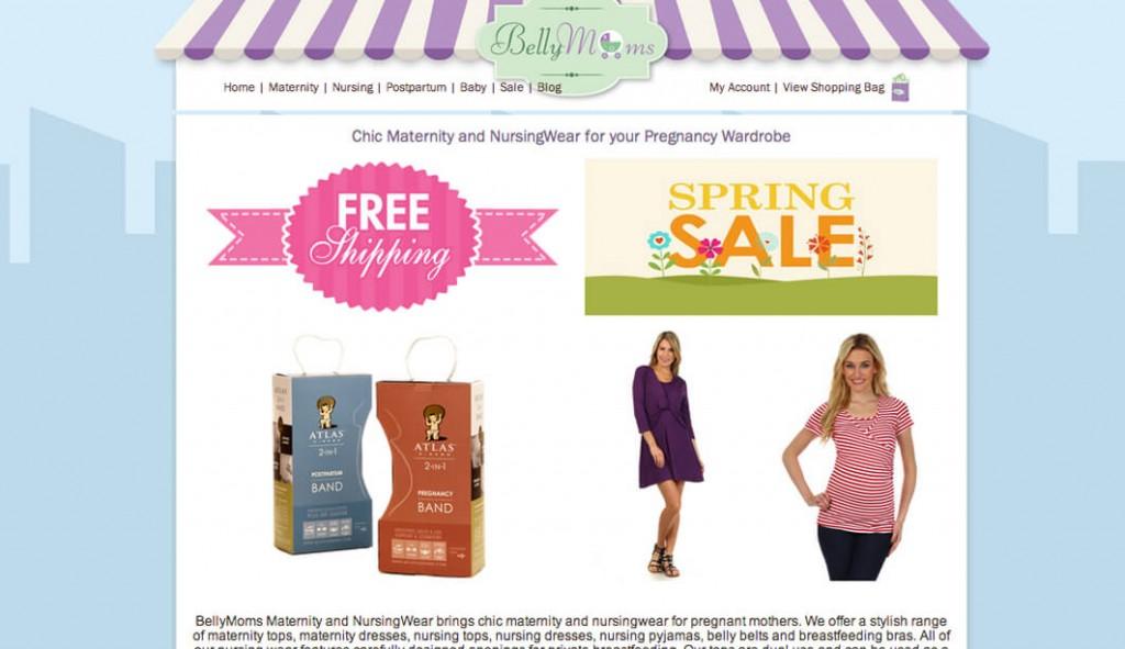 bellymoms.com 3dcart eCommerce store
