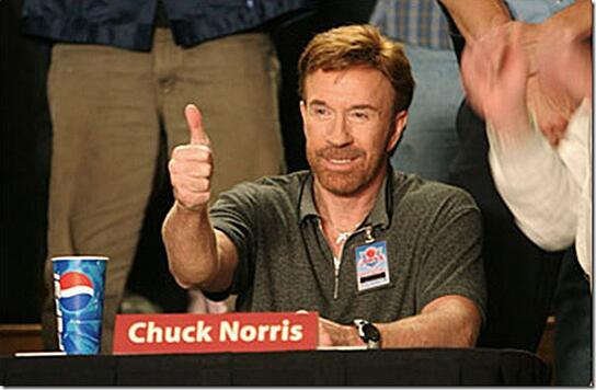 chuck norris thumbs up