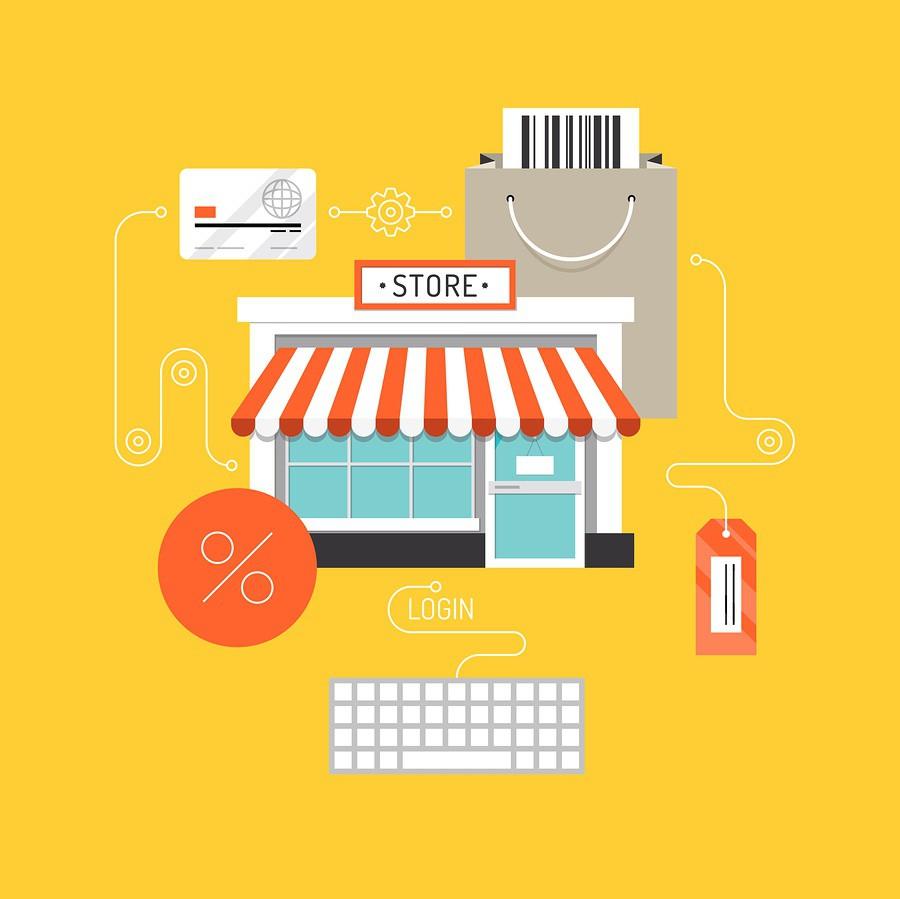 Online Shopping Flat Illustration Concept