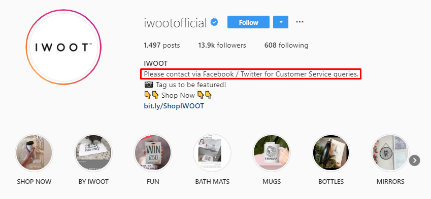 Instagram iWoot