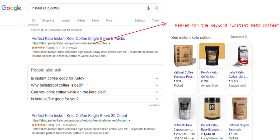 Instant Keto Coffee Search Results