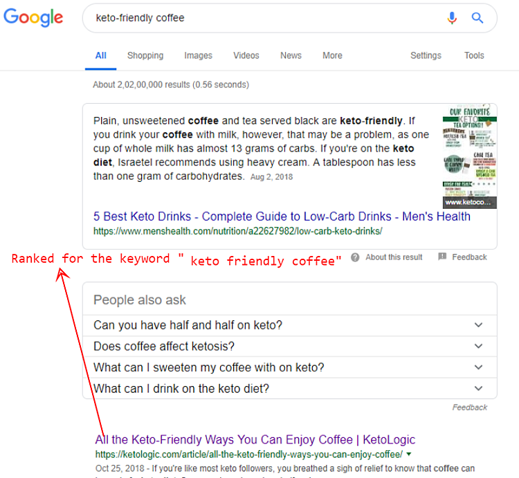 Keto Friendly Coffee Search Results