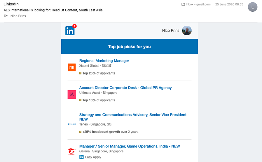 LinkedIn Email Subject Lines