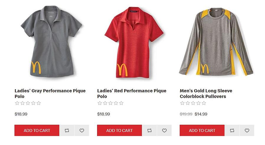 McDonalds Apparel