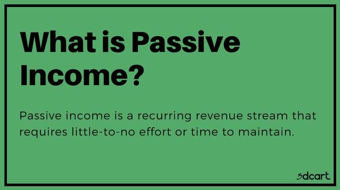 Passive Income Definition - 3dcart