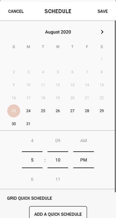Planoly Schedule Calendar