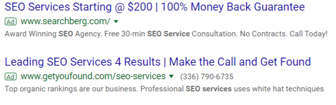 SERP AdWords Top and Bottom-1