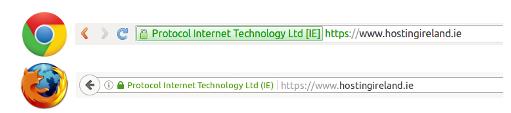 SSL URL green bar
