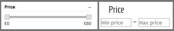 Search Filter Price Range