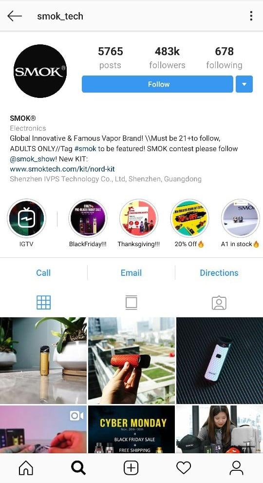 Smok Instagram