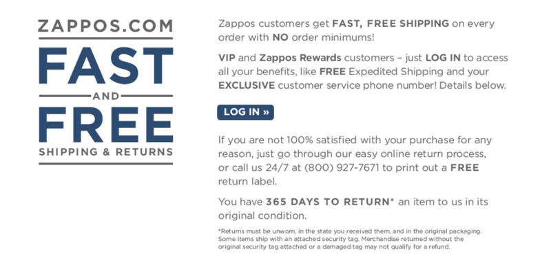 Zappos Return Policy