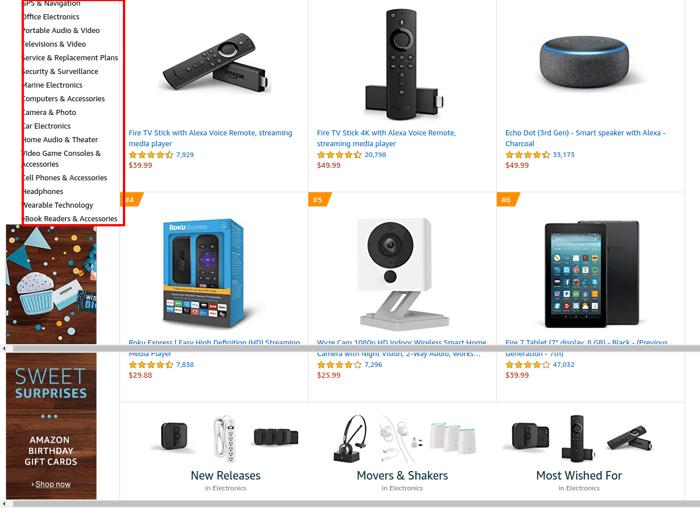 amazon best selling electronics 2019