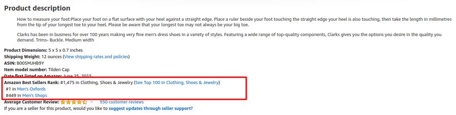amazon shoe product description