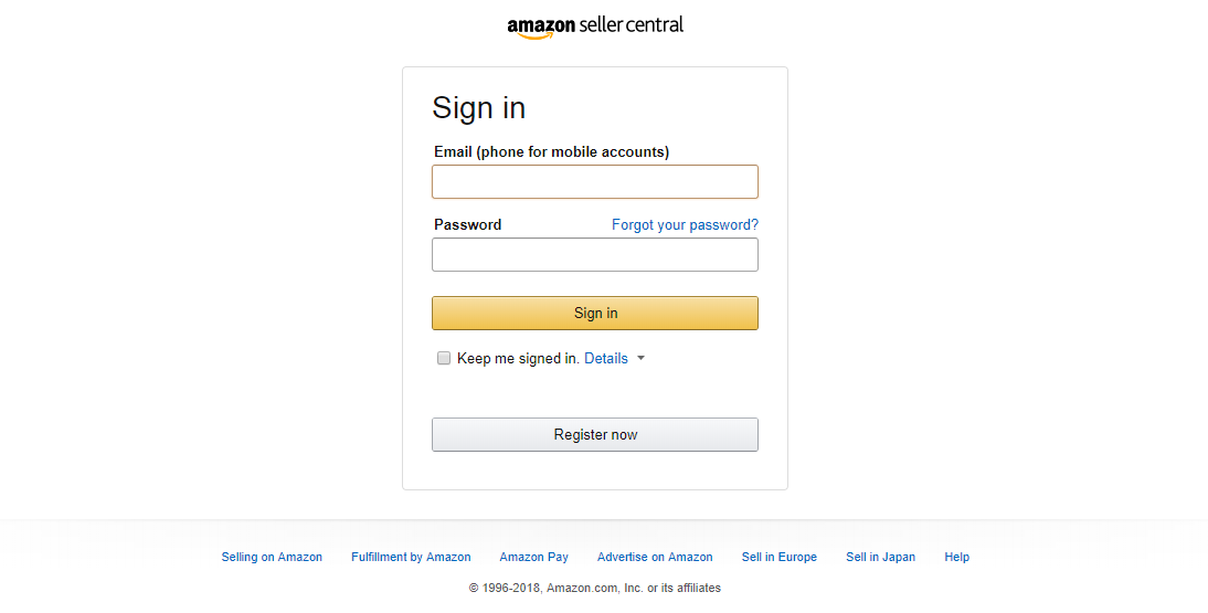 amazon-seller-central-login-page
