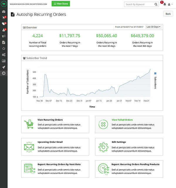 autoship-recurring-orders-dashboard