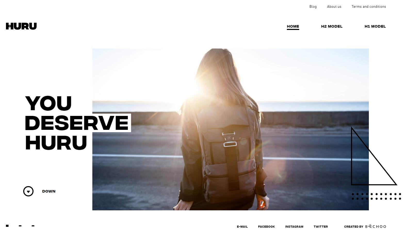 black-white-website-design