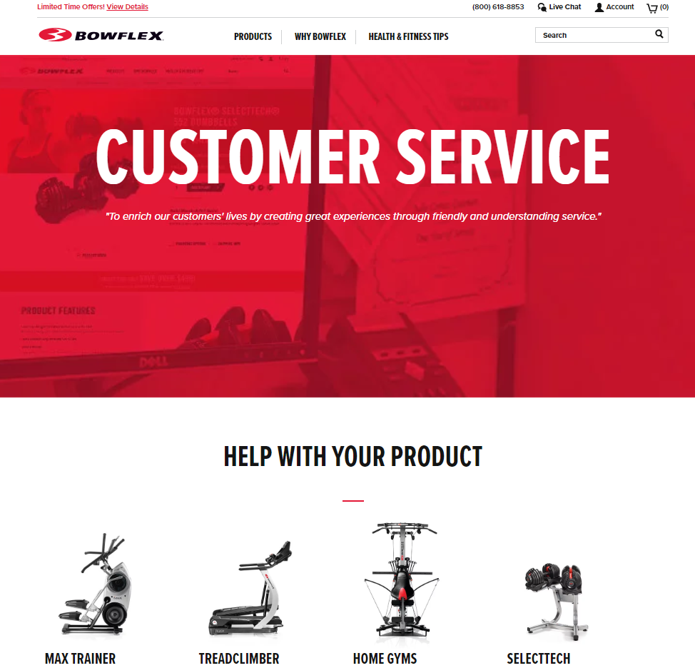 bowflex-customer-service-website