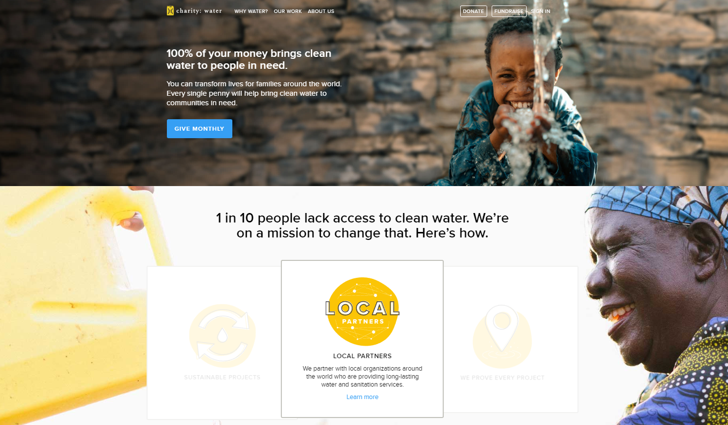charity-water-home-page-design