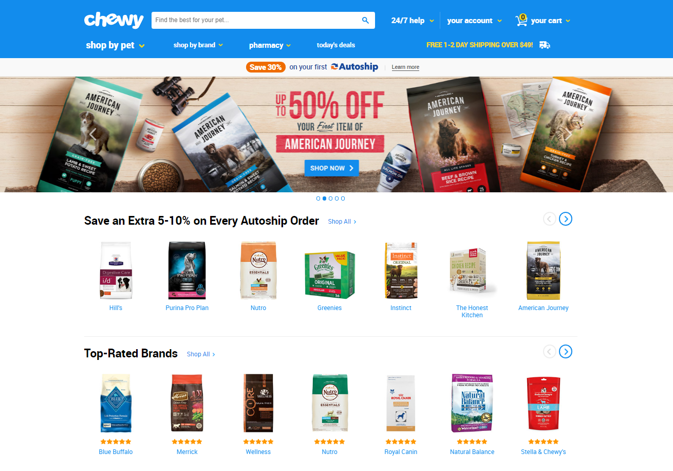 chewy-home-page-design