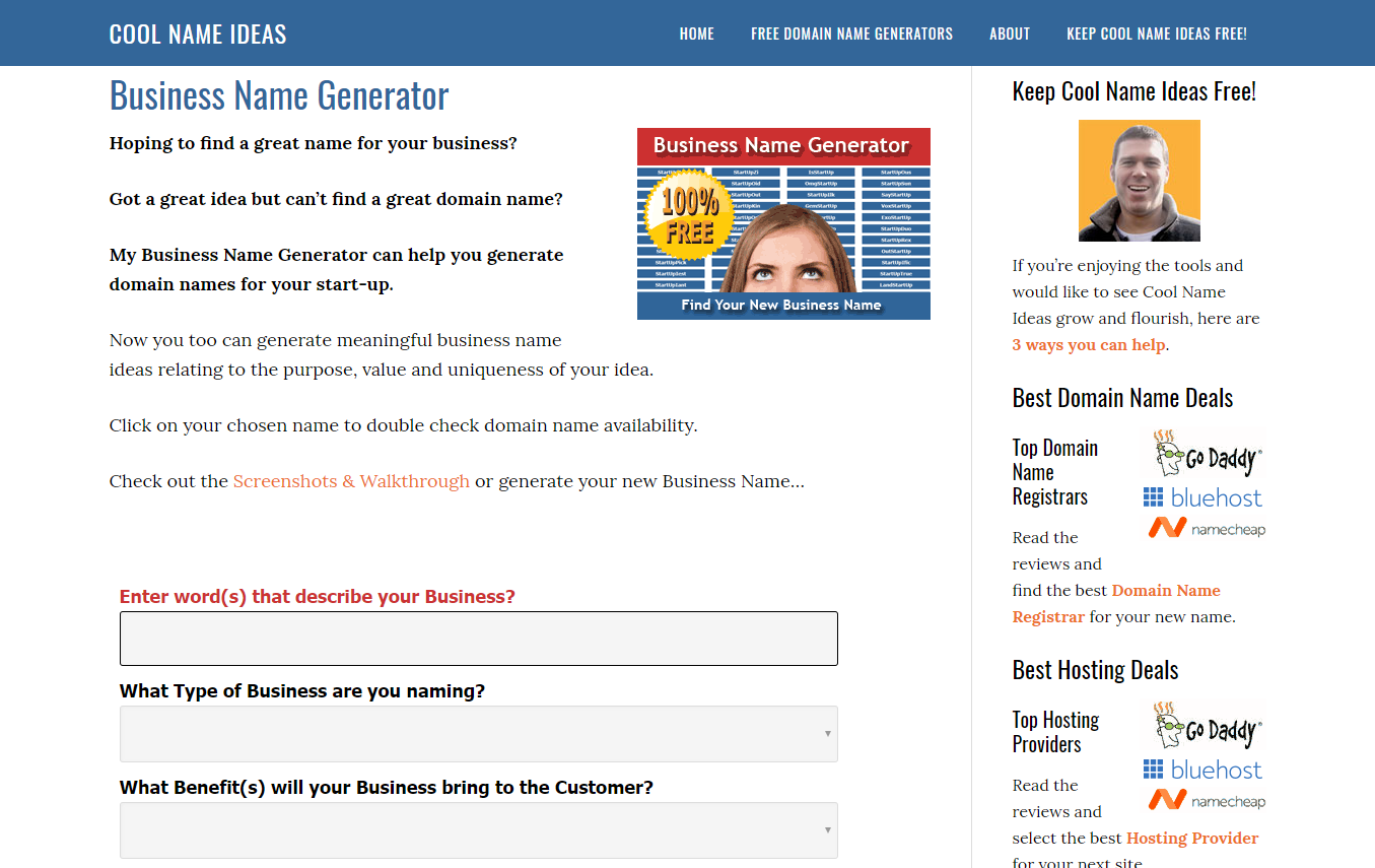 Cool Name Ideas Business Generator