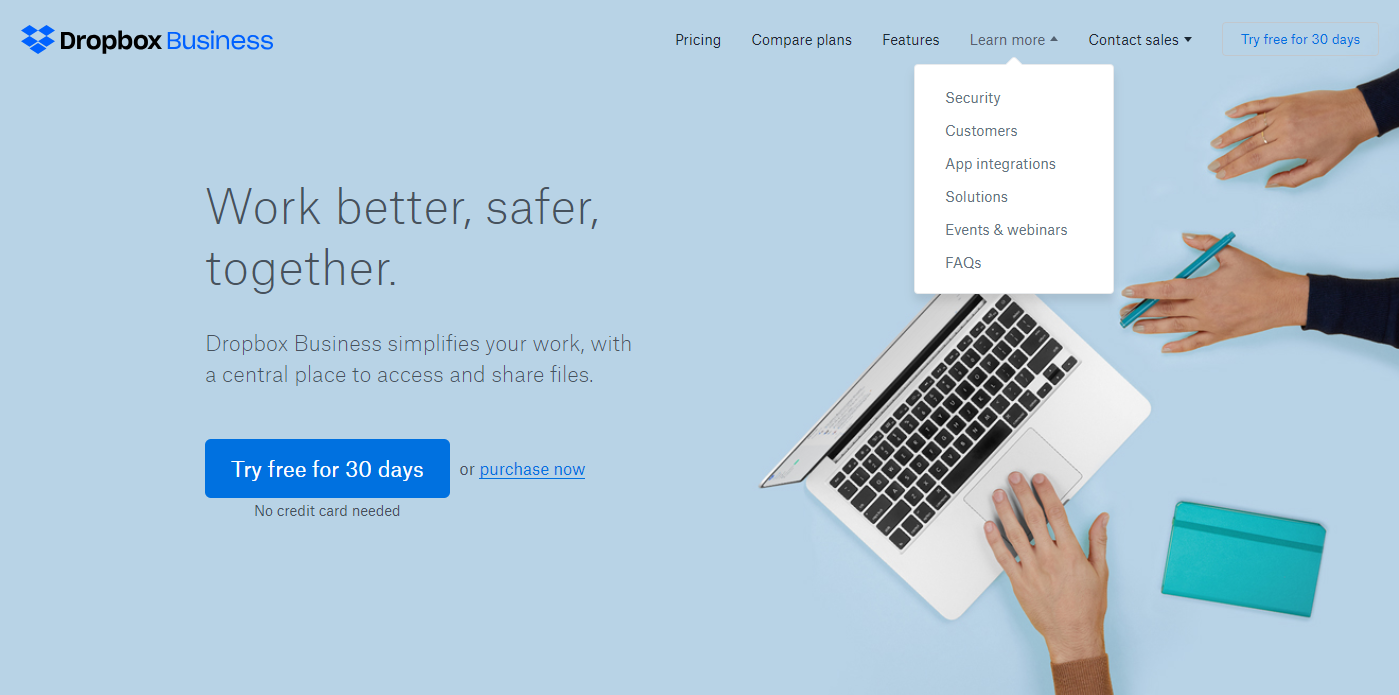 dropbox-business-home-page-design-1