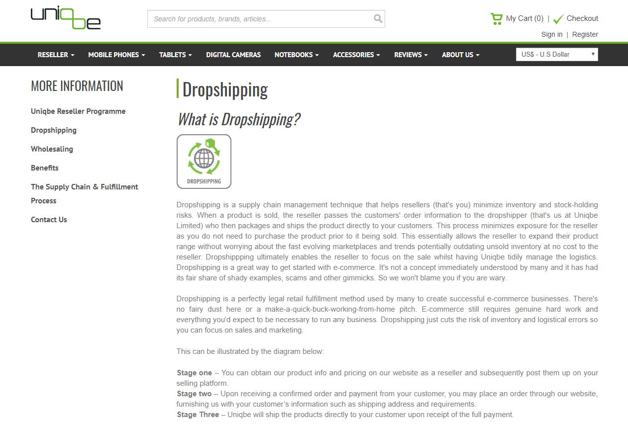 uniqbe-electronics-dropshipping