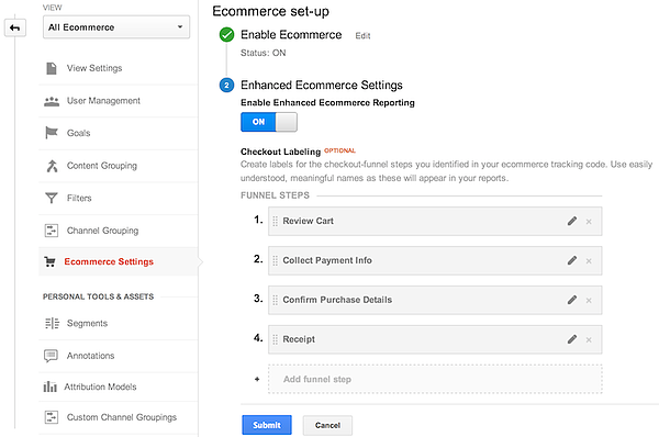 enhanced-ecommerce-settings