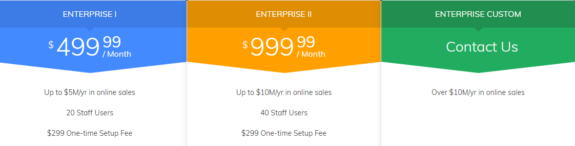 enterprise ecommerce pricing