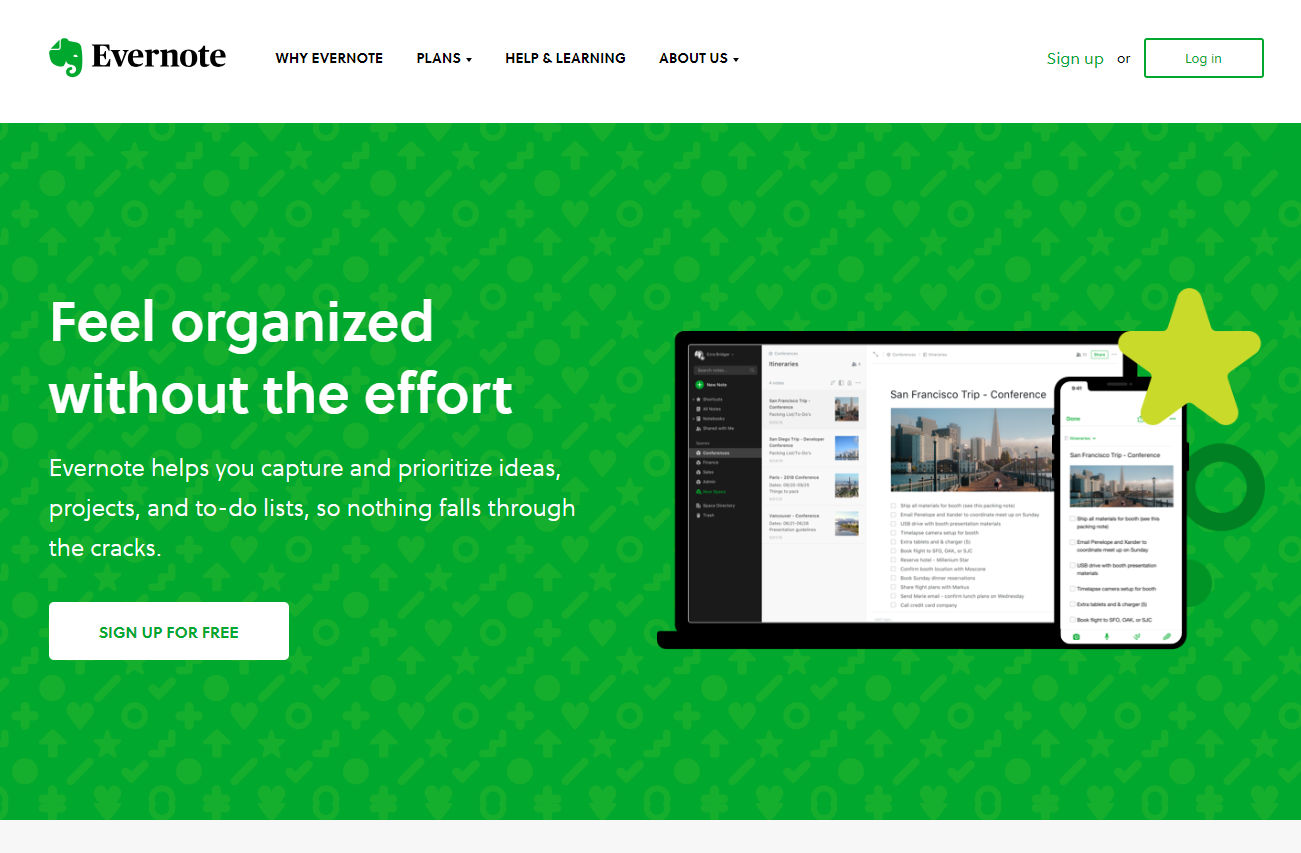 evernote-home-page-design